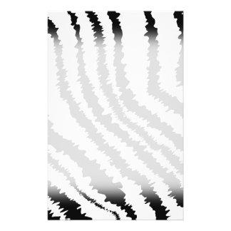 Modèle noir d'impression de zèbre prospectus 14 cm x 21,6 cm