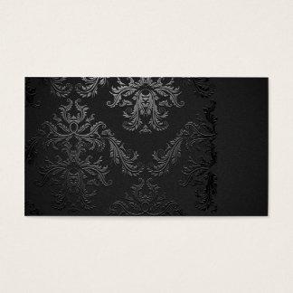 Modèle noir élégant de carte de visite de damassé