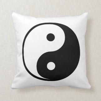 Modèle noir et blanc d illustration de Yin Yang Oreillers