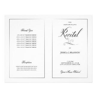 Modèle noir et blanc de programme de considérant prospectus 21,6 cm x 24,94 cm