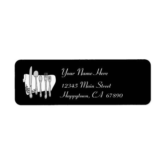 Modèle noir et blanc d'étiquette de adresse de étiquette d'adresse retour