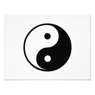 Modèle noir et blanc d'illustration de Yin Yang Impressions Photo