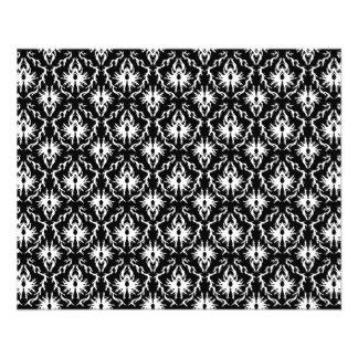 Modèle noir et blanc élégant de damassé prospectus en couleur