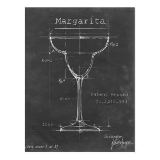 Modèle noir et blanc en verre de margarita carte postale