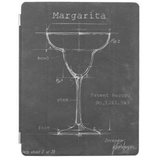 Modèle noir et blanc en verre de margarita protection iPad