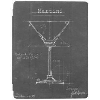 Modèle noir et blanc en verre de Martini Protection iPad