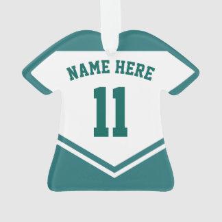 Modèle nommé d'ornement de nombre du Jersey, rugby