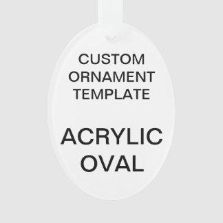 Modèle OVALE acrylique fait sur commande