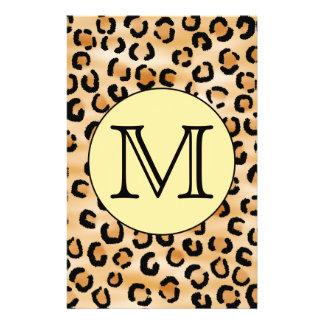 Modèle personnalisé d'empreinte de léopard de mono prospectus customisé