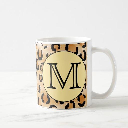 Modèle personnalisé d'empreinte de léopard de mono tasse