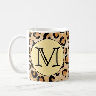 Modèle personnalisé d'empreinte de léopard de mug blanc