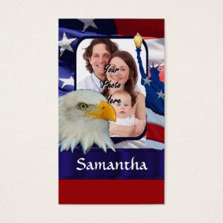 Modèle photo américain patriotique cartes de visite