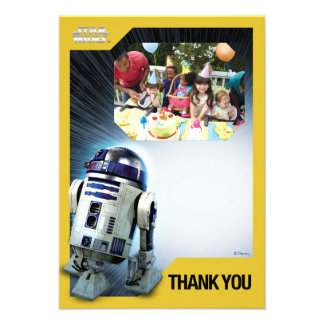 Modèle photo de Merci de Star Wars R2-D2 Carton D'invitation 8,89 Cm X 12,70 Cm