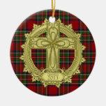 Modèle photo de Noël de Noël de croix celtique de