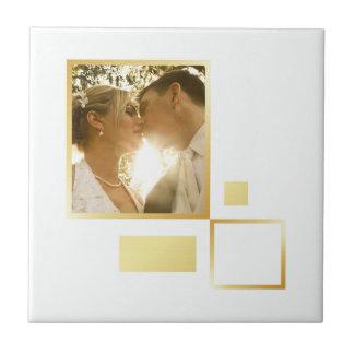 modèle photo fait sur commande de mariage, petit carreau carré