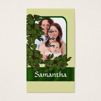 Modèle photo irlandais de shamrock cartes de visite