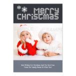 Modèle photo pointillé moderne de Noël des textes Invitations Personnalisées