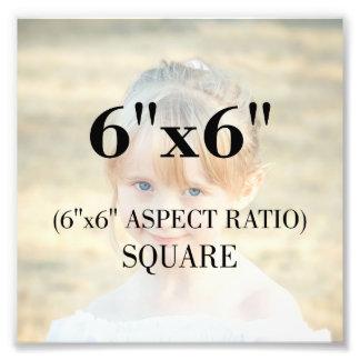 Modèle photo professionnel carré de 6 x 6 pouces