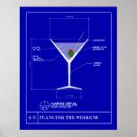 Modèle pour un Martini Affiches