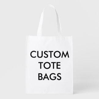 Modèle réutilisable de blanc de sac personnalisé sac d'épicerie