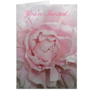 Modèle rose de faire-part de mariage de pivoine cartes de vœux