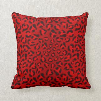 Modèle rose de texture de léopard coussins carrés