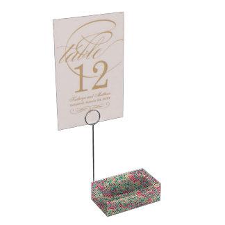 Modèle rose et turquoise de mandala porte-cartes de  table
