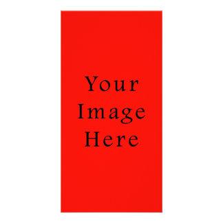 Modèle rouge de tendance de couleur d'esprit de va modèle pour photocarte