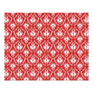 Modèle rouge et blanc lumineux de damassé tract