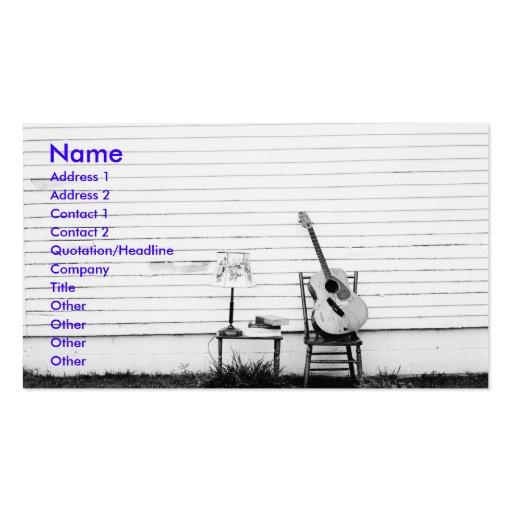 Modèle seul de carte d'industrie musicale de guita modèles de cartes de visite
