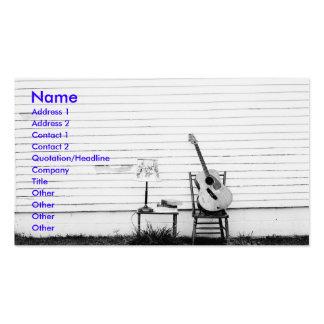 Modèle seul de carte d'industrie musicale de guita carte de visite standard