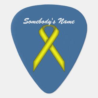 Modèle standard jaune de ruban onglet de guitare