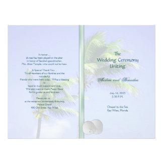 Modèle tropical rejeté de programme de mariage prospectus 21,6 cm x 24,94 cm