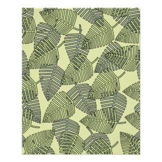 Modèle tropical vert de feuille tract personnalisé