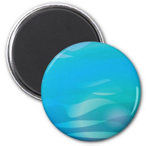 Modèle turquoise d'abrégé sur eau bleue aimant pour réfrigérateur