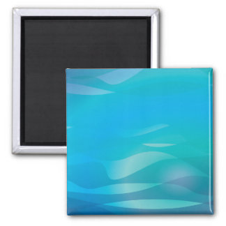 Modèle turquoise d'abrégé sur eau bleue magnets pour réfrigérateur
