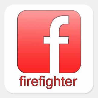 Modèle unique de cadeau de logo de Facebook de Stickers Carrés