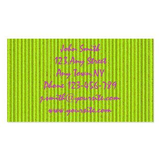 Modèle vert de carte de visite de carton de Fluo