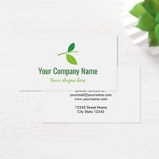 Modèle vert de carte de visite de logo de société