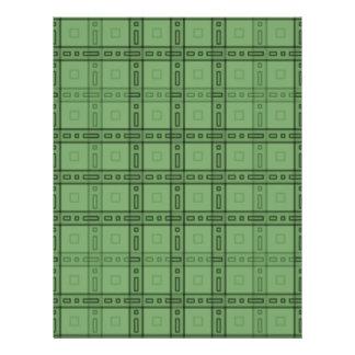 Modèle vert de contrôle prospectus 21,6 cm x 24,94 cm