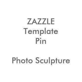 Modèle vide de Pin d'impression de sculpture faite Badge Photo Sculpture