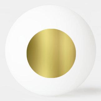 Modèle vide d'or balle tennis de table