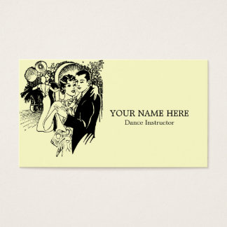 Modèle vintage de carte de visite d'instructeur de
