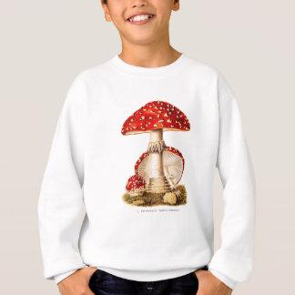 Modèle vintage de champignons de rouge de sweatshirt