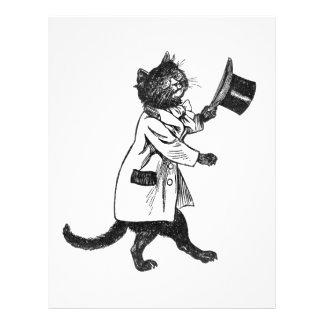 Modèle vintage d'insecte d'art de chat noir prospectus 21,6 cm x 24,94 cm