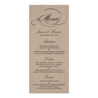 Modèles élégants de menu de mariage de Papier