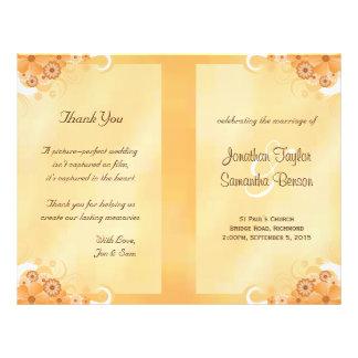 Modèles floraux de programme de mariage de ketmie prospectus 21,6 cm x 24,94 cm