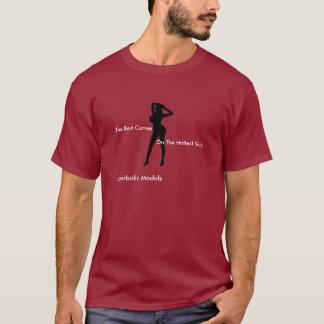 Modèles hyperboliques (rouge de la chemise des t-shirt