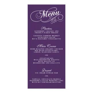 Modèles pourpres et blancs élégants de menu de motif pour double carte