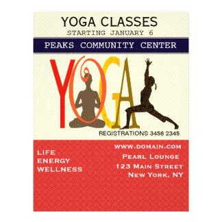 Moderne de yoga de Pilates d'exercice de forme Prospectus 21,6 Cm X 24,94 Cm